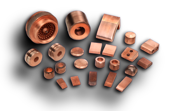 Copper Tungsten Silver Tungsten Electrical Contact Metals Vi Products
